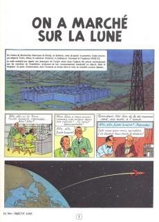 Extrait de Tintin (Historique) -17C4- On a marché sur la lune