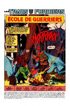 Extrait de Les transformers (Éditions Héritage) -7- Ecole de guerriers