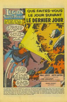 Extrait de La légion des super-héros et les nouveaux jeunes Titans (Editions Héritage) -12- Que faites-vous le jour suivant le dernier jour