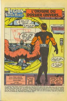 Extrait de La légion des super-héros et les nouveaux jeunes Titans (Editions Héritage) -11- L'origine du dossier Univers...
