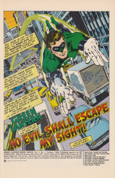 Extrait de Green Lantern/ Green Arrow (1983) -1- No evil shall escape my sight!/ Journey to desolation!
