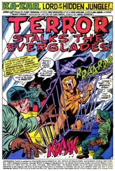 Extrait de Astonishing tales Vol.1 (Marvel - 1970) -12- Terror stalks the everglades