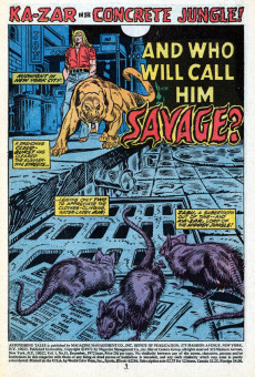 Extrait de Astonishing tales Vol.1 (Marvel - 1970) -15- And who will call him Savage?