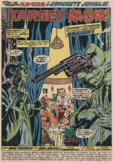 Extrait de Astonishing tales Vol.1 (Marvel - 1970) -17- Target: Ka-zar
