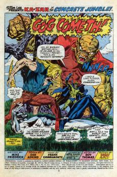 Extrait de Astonishing tales Vol.1 (Marvel - 1970) -18- Gog cometh!