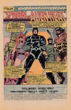 Extrait de Inhumans (1975) (The) -1- Spawn of alien heat