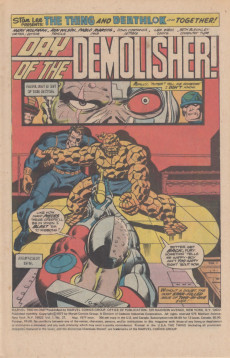 Extrait de Marvel Two-In-One (1974) -27- Day of the Demolisher!