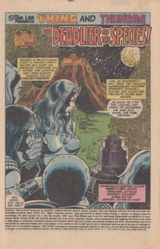 Extrait de Marvel Two-In-One (1974) -56- The Pegasus Project Part Four The Deadlier of the Species!