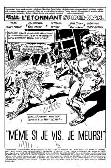 Extrait de L'Étonnant Spider-Man (Éditions Héritage) -51- Même si je vis, je meurs !