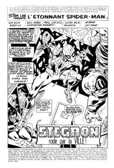 Extrait de L'Étonnant Spider-Man (Éditions Héritage) -67- Stegron rode par la ville !