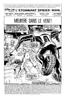 Extrait de L'Étonnant Spider-Man (Éditions Héritage) -6970- Meurtre dans le vent !