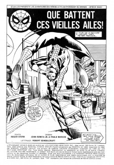 Extrait de L'Étonnant Spider-Man (Éditions Héritage) -127128- Que battent ces vieilles ailes !