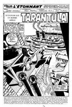Extrait de L'Étonnant Spider-Man (Éditions Héritage) -36- Tarantula