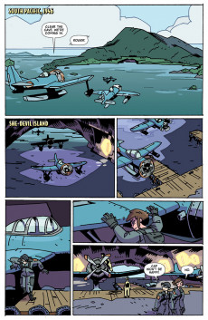 Extrait de Atomic Robo Presents Real Science Adventures - The Flying She-Devils in Raid on Marauder Island