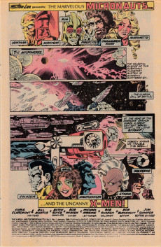 Extrait de X-Men and the Micronauts (The) (1984) -1- First encounter