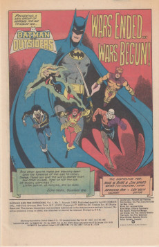 Extrait de Batman and the Outsiders (1983) -1- Wars Ended... Wars Begun!