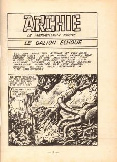 Extrait de Archie (Jeunesse et Vacances) -21- ARCHIE - Le Galion Echoué