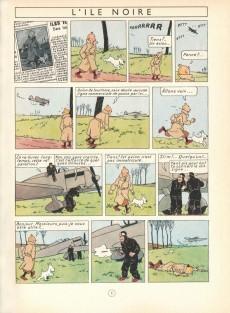 Extrait de Tintin (Fac-similé couleurs) -7- L'île noire