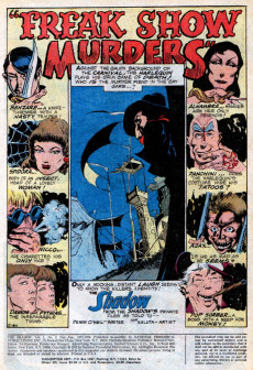 Extrait de Shadow (The) (DC comics - 1973) -2- Freak Show Murders