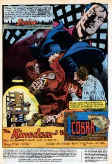Extrait de Shadow (The) (DC comics - 1973) -3- The Kingdom of the Cobra
