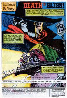 Extrait de Shadow (The) (DC comics - 1973) -4- Death Is Bliss!