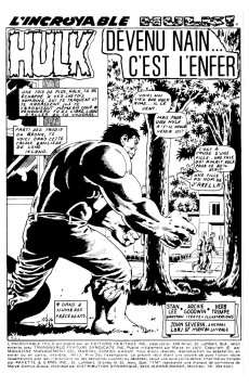 Extrait de L'incroyable Hulk (Éditions Héritage) -13- Devenu nain... c'est l'enfer