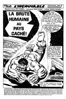 Extrait de L'incroyable Hulk (Éditions Héritage) -34- La brute humaine au pays caché!