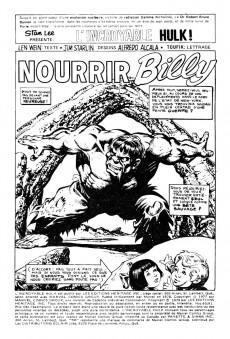 Extrait de L'incroyable Hulk (Éditions Héritage) -8081- Nourrir Billy