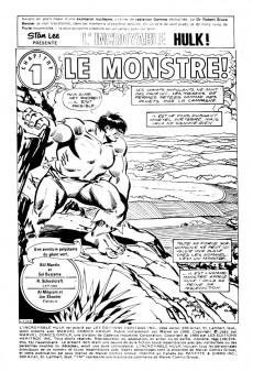 Extrait de L'incroyable Hulk (Éditions Héritage) -108109- Le monstre!