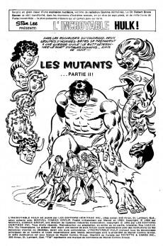 Extrait de L'incroyable Hulk (Éditions Héritage) -112113- les mutants... Partie II!