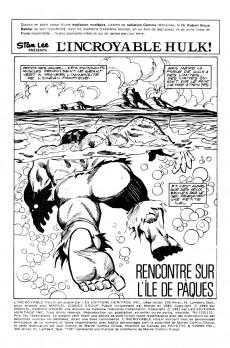 Extrait de L'incroyable Hulk (Éditions Héritage) -120121- Rencontre sur l'île de Pâques