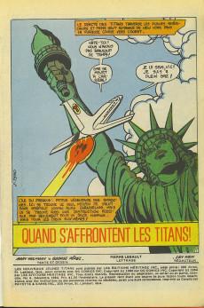 Extrait de La légion des super-héros et les nouveaux jeunes Titans (Editions Héritage) -6- Quand s'affrontent les Titans!