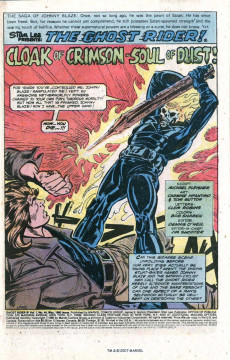 Extrait de Ghost Rider Vol.2 (Marvel comics - 1973) -44- Cloak Of Crimson-Soul Of Dust !