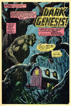 Extrait de Swamp Thing Vol.1 (DC comics - 1972) -1- Dark Genesis!