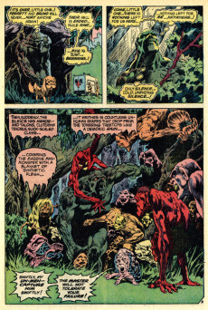 Extrait de Swamp Thing Vol.1 (DC comics - 1972) -2- The Man Who Wanted Forever
