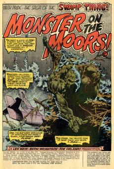 Extrait de Swamp Thing Vol.1 (DC comics - 1972) -4- Monster on the Moors!