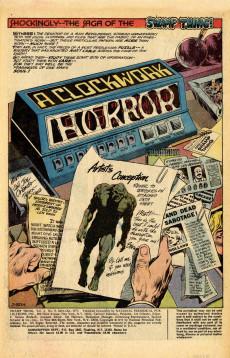 Extrait de Swamp Thing Vol.1 (DC comics - 1972) -6- A Clockwork Horror