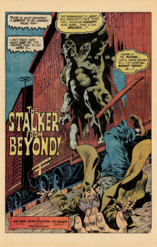 Extrait de Swamp Thing Vol.1 (DC comics - 1972) -9- The Stalker from Beyond!