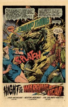 Extrait de Swamp Thing Vol.1 (DC comics - 1972) -16- Night of the Warring Dead