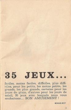 Extrait de Bonux-Boy (Les histoires de) -06240- 35 jeux