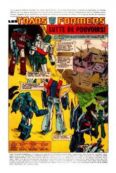 Extrait de Les transformers (Éditions Héritage) -2- Lutte de pouvoirs