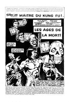 Extrait de Les mains de Shang-Chi, maître du Kung-Fu (Éditions Héritage) -41- Les âges de la mort!