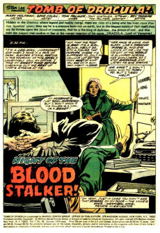 Extrait de The tomb of Dracula (1972) -25- Blood Stalkers of Count Dracula!