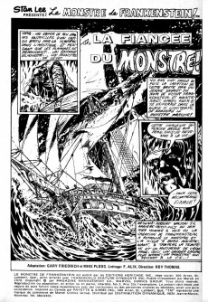 Extrait de Le monstre de Frankenstein (Éditions Héritage) -2- La fiancée du monstre!