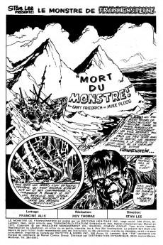 Extrait de Le monstre de Frankenstein (Éditions Héritage) -4- Mort du monstre!