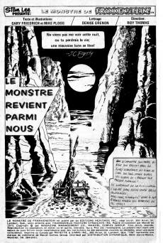Extrait de Le monstre de Frankenstein (Éditions Héritage) -5- Le monstre revient parmi nous