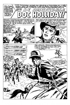 Extrait de Rawhide Kid (Éditions Héritage) -1- Le redoutable Doc Holliday!
