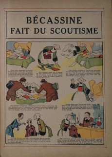 Extrait de Bécassine -17b1949- Bécassine fait du scoutisme
