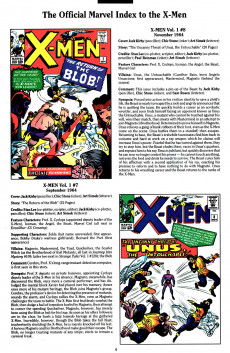Extrait de The official Marvel index to the X-Men (1994) -1- The Official Marvel index to the X-Men Vol. 2 No.1