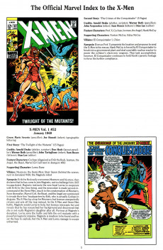 Extrait de The official Marvel index to the X-Men (1994) -2- The Official Marvel index to the X-Men Vol. 2 No.2